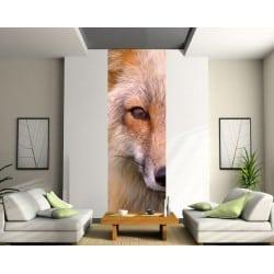 Papier peint lé unique Tête de loup.