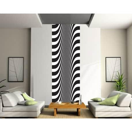 papier peint l unique rayures art d co stickers. Black Bedroom Furniture Sets. Home Design Ideas