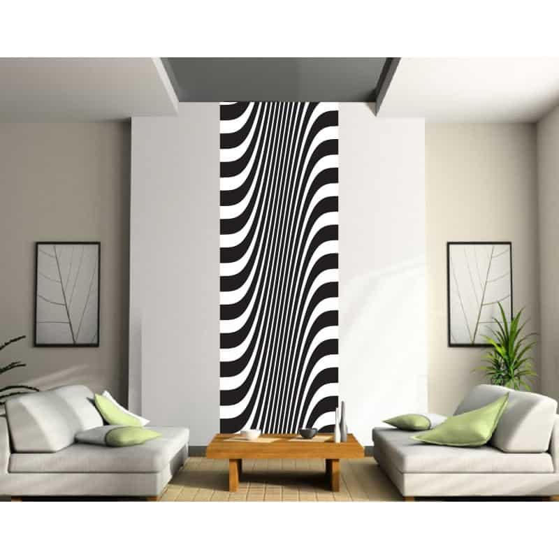 papier peint l unique rayures art d co stickers. Black Bedroom Furniture Sets. Home Design Ideas