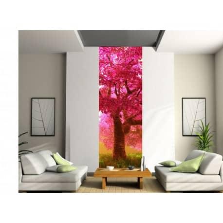 papier peint l unique arbre japonais art d co stickers. Black Bedroom Furniture Sets. Home Design Ideas