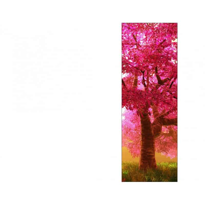 Papier peint l unique arbre japonais art d co stickers for Papier peint le unique