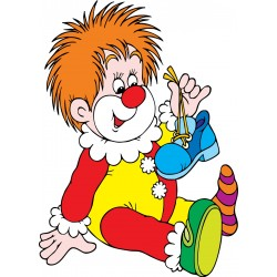 Stickers enfant Clown