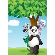 Stickers enfant géant Animaux arbre