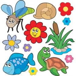 Stickers kit enfant planche de stickers Animaux