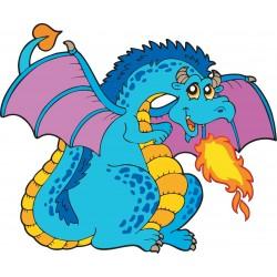 Stickers muraux enfant Dragon feu