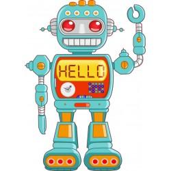 Stickers enfant Robot
