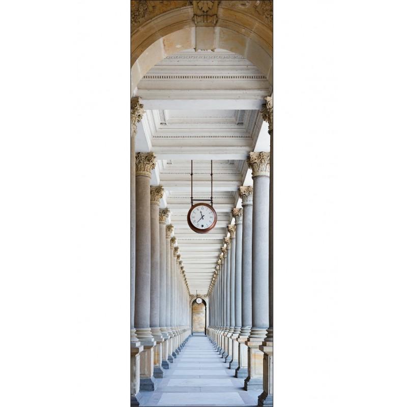 Stickers l unique horloge couloir art d co stickers for Stickers muraux couloir