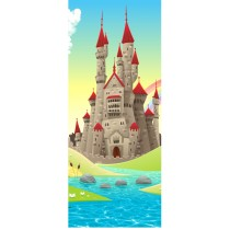 Stickers porte enfant Chateau