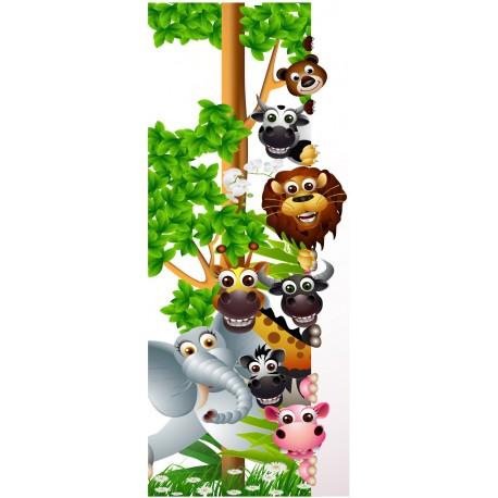 Stickers porte enfant animaux jungle art d co stickers - Stickers pour porte fenetre ...