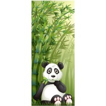 Stickers porte enfant Panda Bambous