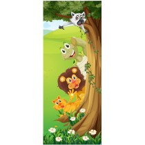 Stickers porte enfant Animaux
