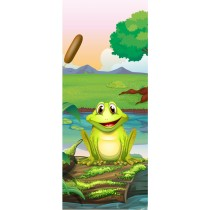 Stickers porte enfant Grenouille