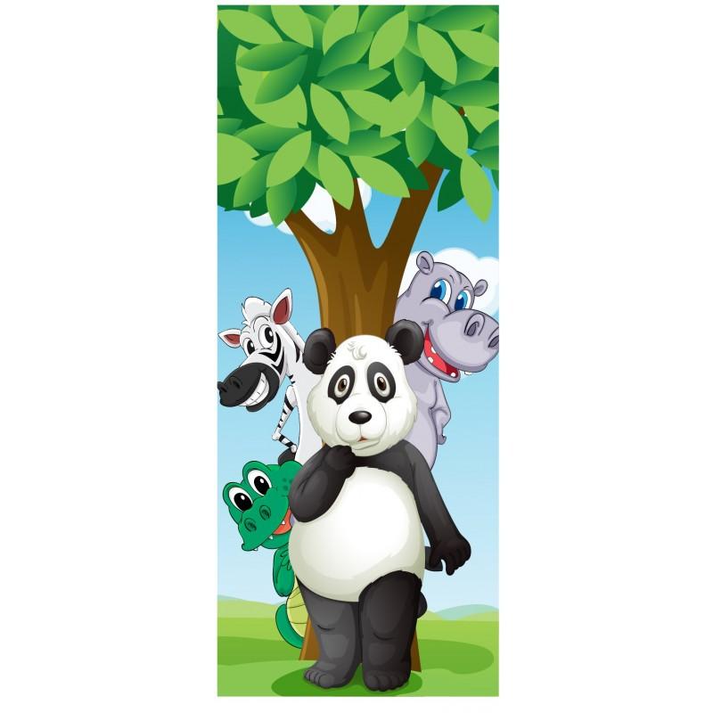 Stickers porte enfant porte animaux art d co stickers for Porte de champerret salon animaux