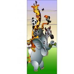 Stickers porte enfant Animaux de la jungle