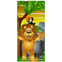 Stickers porte enfant Lion