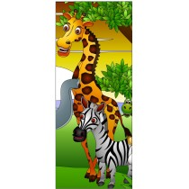 Stickers porte enfant Girafe