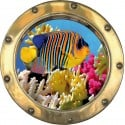 Sticker hublot poisson de la mer rouge