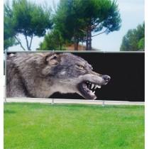 Brise vue déco Loup