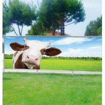 Brise vue déco Vache