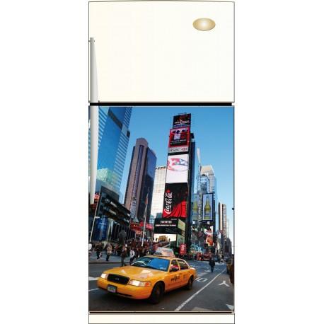 Sticker frigidaire New York Taxi - ou Magnet frigidaire