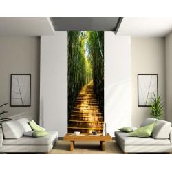 Stickers lé unique Escalier Bambous