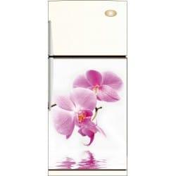 Sticker frigo fleur et son reflet - ou Magnet frigo