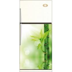 Sticker frigo Bambou et son reflet - ou Magnet frigo