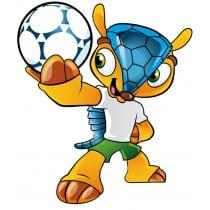Stickers autocollant mascotte coupe du monde Brésil