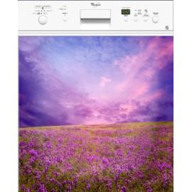Sticker Lave Vaisselle Champ de lavande ou magnet lave vaisselle