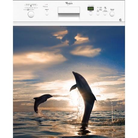 Sticker Lave Vaisselle Dauphins ou magnet lave vaisselle