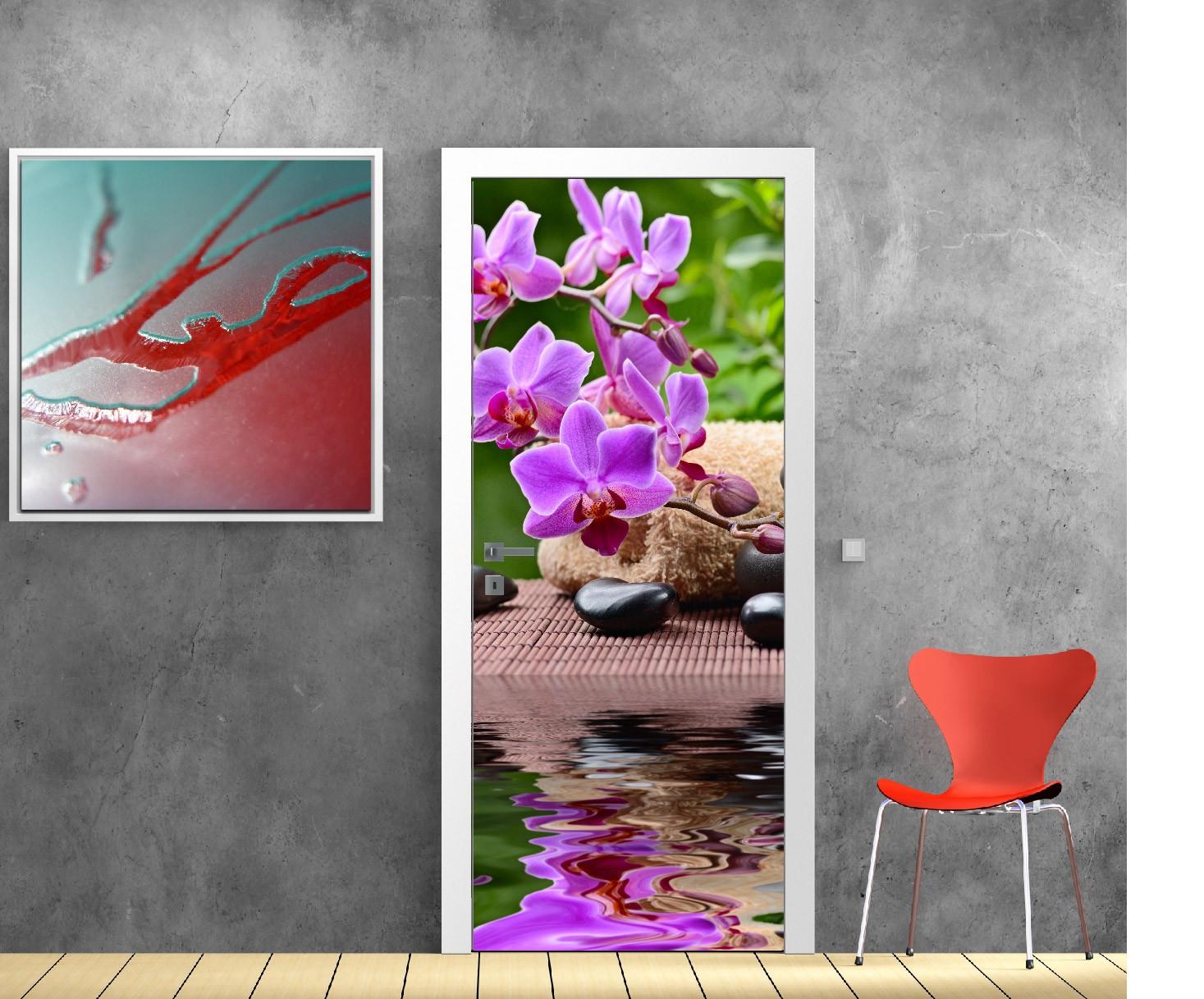 Stickers porte interieure maison trompe l oeil interieur maison paysage with stickers porte - Sticker porte de placard ...
