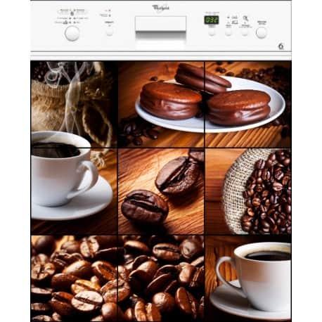 Sticker lave laisselle Café ou magnet lave vaisselle