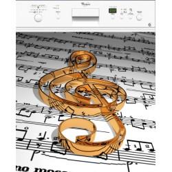 Sticker lave vaisselle note de musique ou magnet lave vaisselle