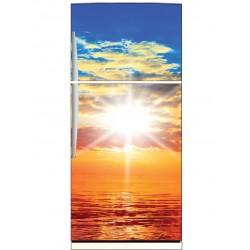 Sticker frigo déco cuisine Coucher de soleil