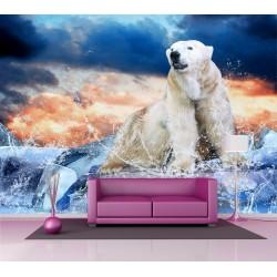 Papier peint grand format Ours polaire 2,5x3,6 m