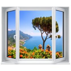 Stickers fenêtre déco : Paysage la mer