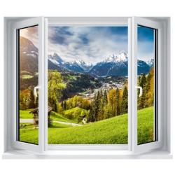 Stickers fenêtre déco : Paysage la montagne