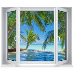 Stickers fenêtre déco : Caraibes