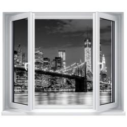 Stickers fenêtre déco : Pont de Brooklyn
