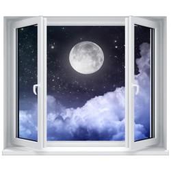 Stickers fenêtre déco : La pleine lune