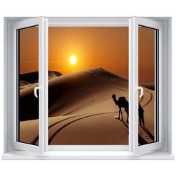 Stickers fenêtre déco : Le désert Sahara