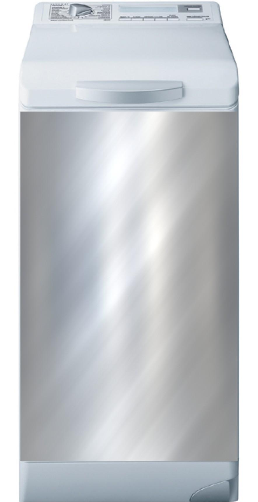 Lave Linge Couleur Gris sticker lave linge gris argent uni - art déco stickers