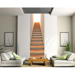 Papier peint lé unique Montée d'escalier