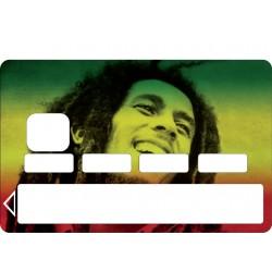 Stickers Carte bleue - Carte bancaire - CB Bob Marley