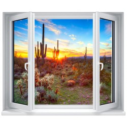 Brise vue imprimé jardin terrasse balcon déco Coucher de soleil 9143