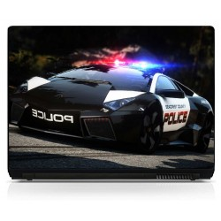 Stickers pc ordinateur portable Police