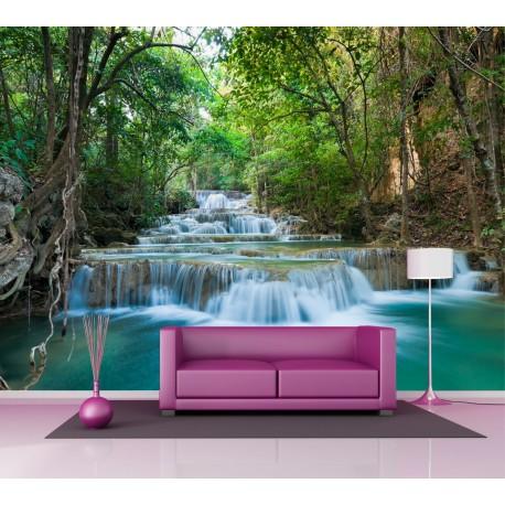 papier peint grande largeur rivi re 2 5x3 6 m art d co stickers. Black Bedroom Furniture Sets. Home Design Ideas