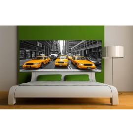 stickers t te de lit taxi new york art d co stickers. Black Bedroom Furniture Sets. Home Design Ideas