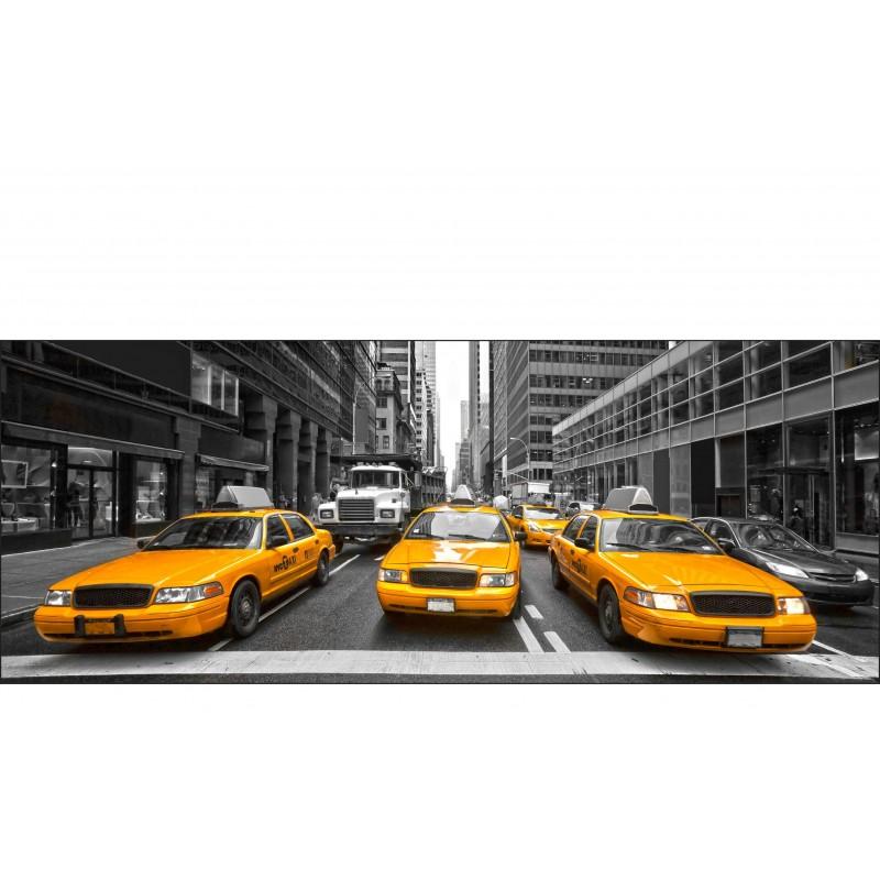 Stickers Tête de lit déco chambre New York Taxi 9127