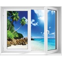 Stickers fenêtre Trompe l'oeil déco :Caraibes